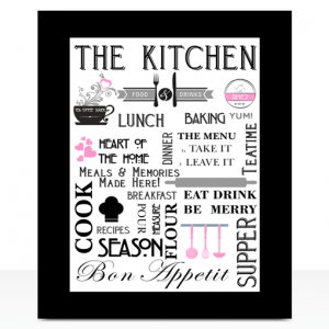 Kitchen Stylish Kitchen – Diner Wall Art Print