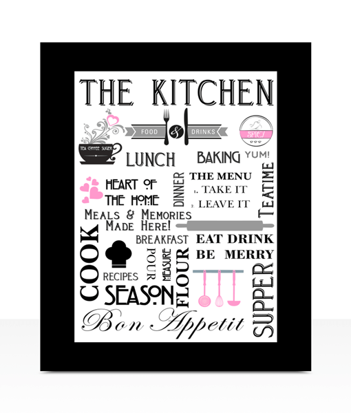 Kitchen Stylish Kitchen – Diner Wall Art Print