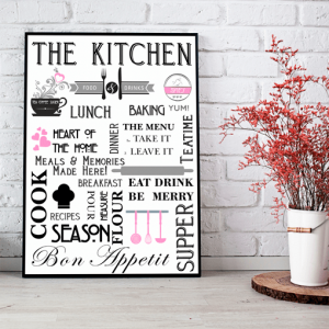 Stylish Kitchen – Diner Wall Art Print
