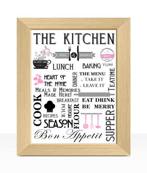 Stylish Kitchen Diner Wall Art Print Abc Prints