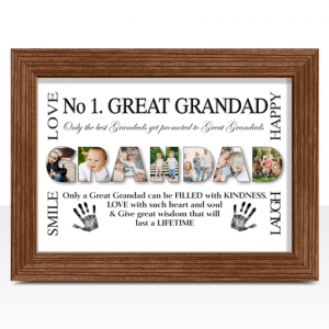 Fathers Day Gifts No 1 Great GRANDAD Personalised Photo Gift