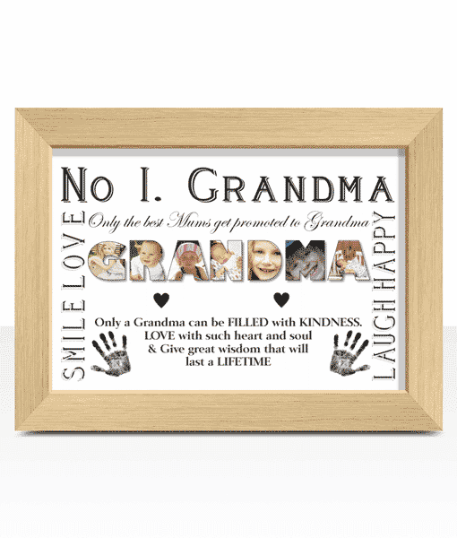 No 1 GRANDMA Personalised Photo Gift Gifts For Grandparents