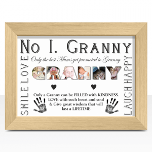 Gifts For Grandparents No 1 GRANNY Personalised Photo Gift