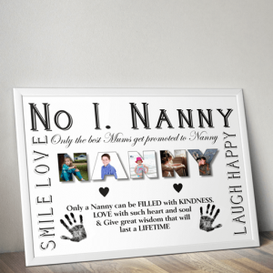No 1 NANNY Personalised Photo Gift Gifts For Grandparents
