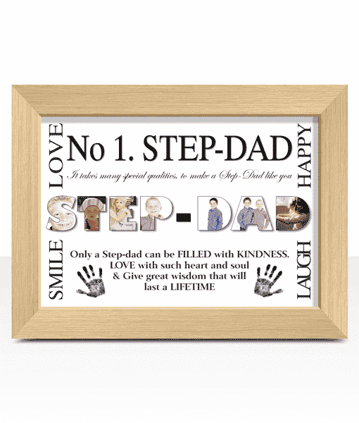 Fathers Day Gifts No 1 STEP DAD Personalised Photo Gift