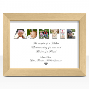 Auntie Personalised AUNTIE Photo Gift