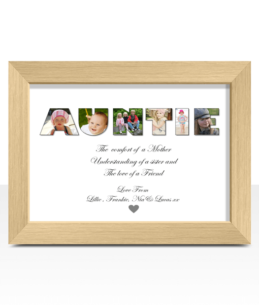 Personalised AUNTIE Photo Christmas Gift | ABC Prints