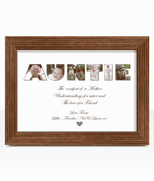 Personalised AUNTIE Photo Gift