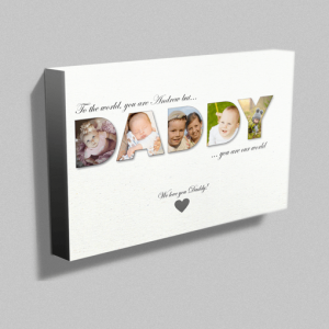 Personalised DADDY Photo Canvas