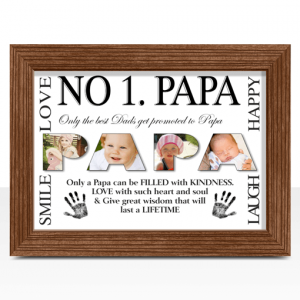 Fathers Day Gifts No 1 PAPA Personalised Photo Gift