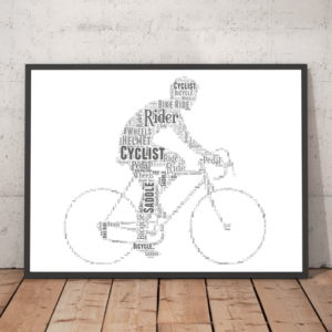 Personalised Cycling Bike Rider Word Art Gift