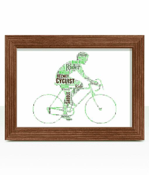 Personalised Cycling Bike Rider Word Art Gift