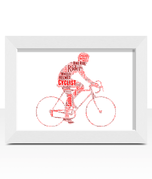 Gifts For Him Personalised Cycling Bike Rider Word Art Gift