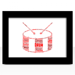 Drum Word Art Print