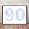 Personalised 90th Birthday Word Art Gift