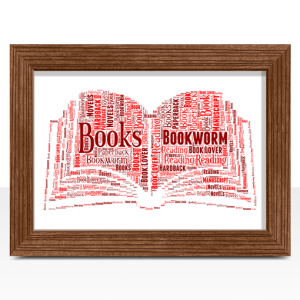 Personalised Book Word Art Print