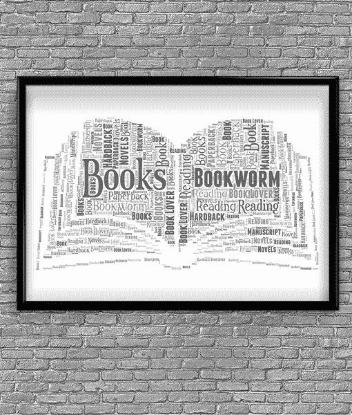 Gifts For Her Personalised Book Word Art Print