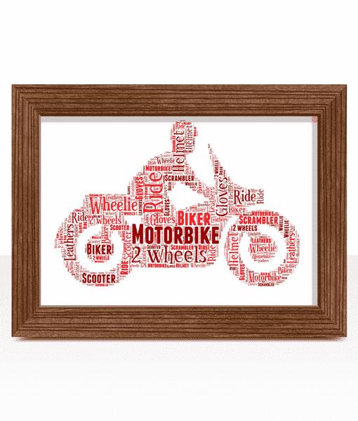 Personalised Motorbike Word Art