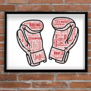Sport Boxing Gloves Word Art