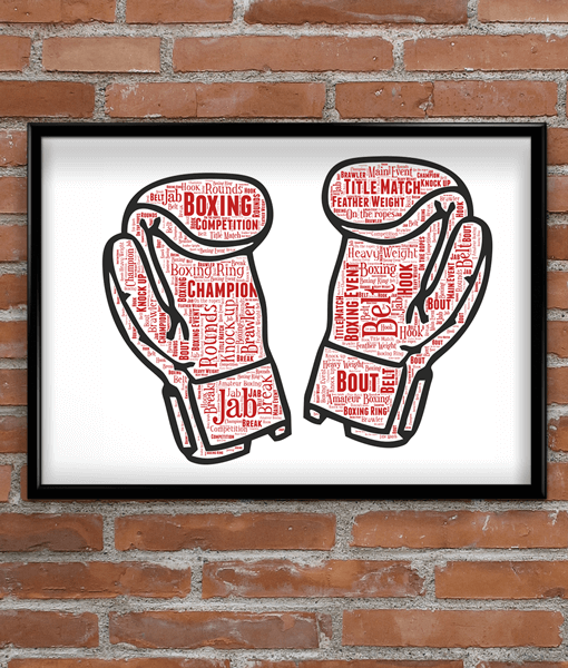 Boxing Gloves Word Art