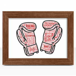 Boxing Gloves Word Art
