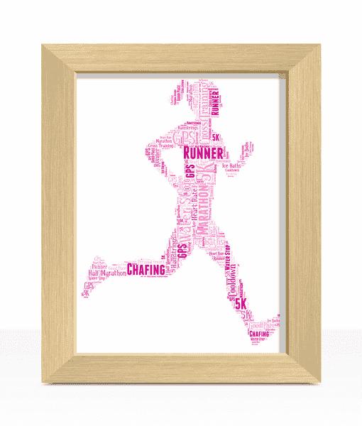 Gifts For Her Female Runner Word Art Print