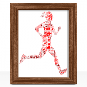 Female Runner Word Art Print