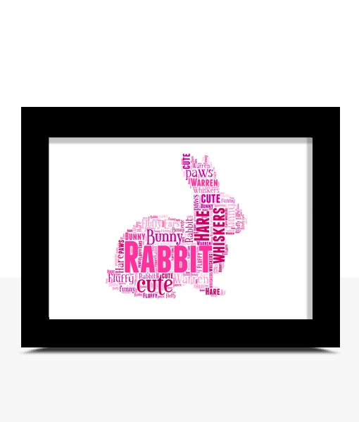 Personalised Rabbit Word Art Print Animal Prints