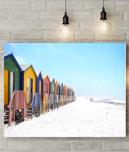 [tag] Colourful Beach Huts Canvas Picture