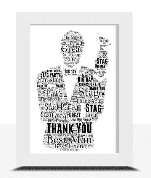 Personalised Best Man Gift – Wedding Word Art