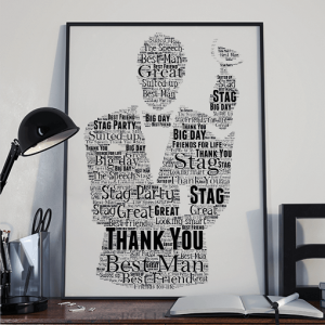 Personalised Best Man Gift – Wedding Word Art