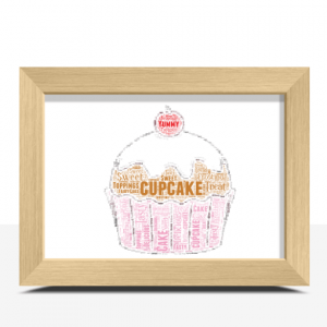 Baby Shower Gifts Personalised Cupcake Word Art