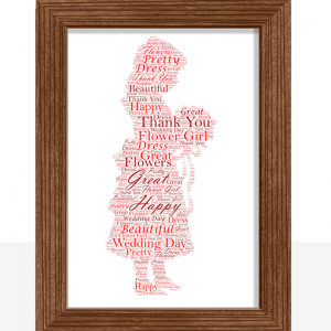Flower Girl Word Art Wedding Gift