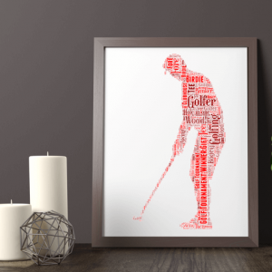 Sport Golfer – Golf Word Art Print