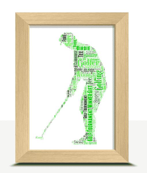 Sport Golfer – Golf Word Art Print