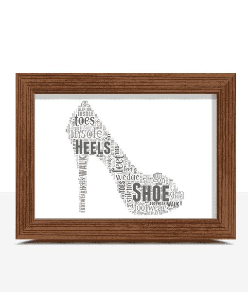 Stiletto Shoe Word Art Print