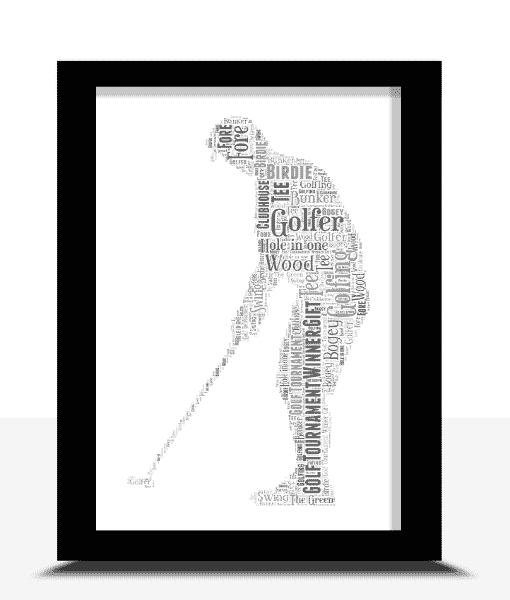 Golfer – Golf Word Art Print
