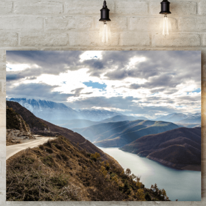 Mountain Lake Canvas Picture
