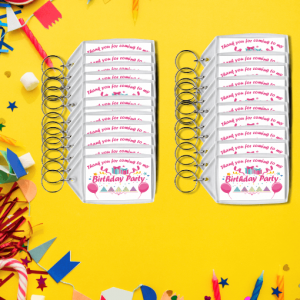 Girls Birthday Party Keyrings