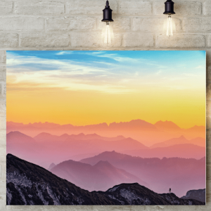 [tag] Rainbow Sky Picture Canvas