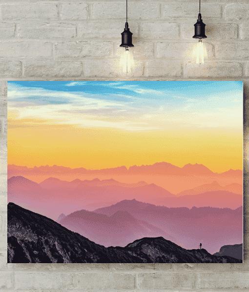 Rainbow Sky Picture Canvas