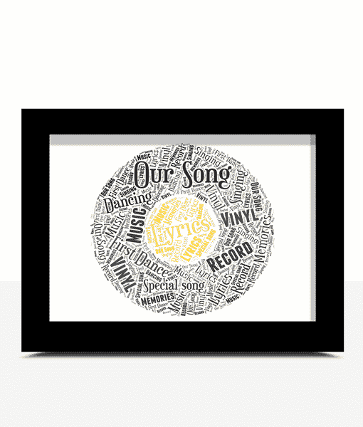Personalised Vinyl Record Word Art Gift