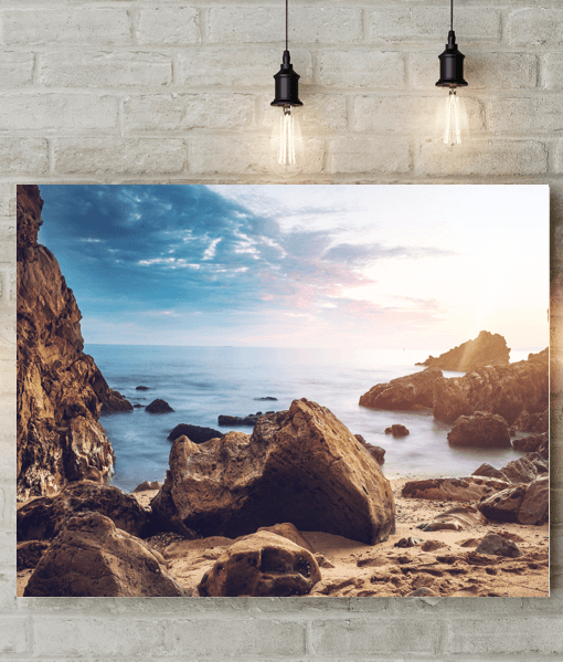 [tag] Rocky Beach Picture Canvas