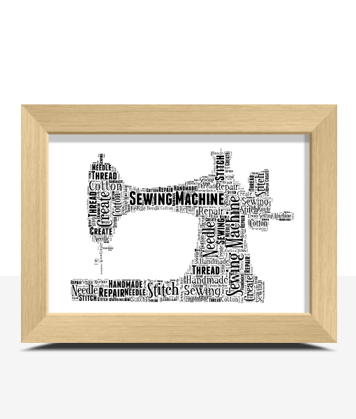 Sewing Machine Word Art Print