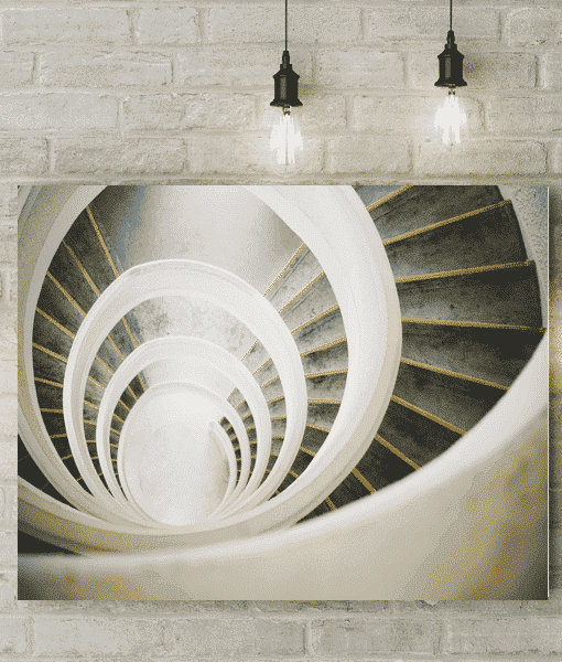 Spiral Staircase Picture Canvas