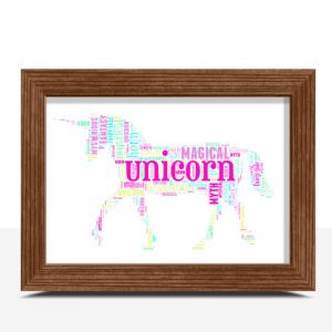 Personalised Unicorn Word Art