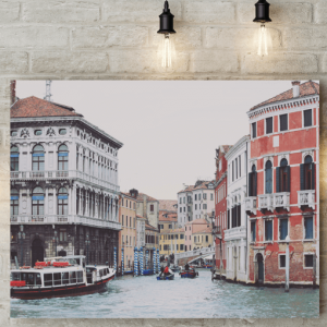 Venice Water Scene Picture Canvas