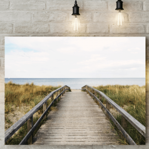 Beach Walkway Canvas Picture