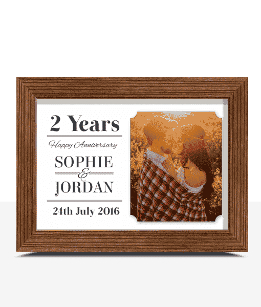 Personalised Wedding Anniversary Photo Frame Gift