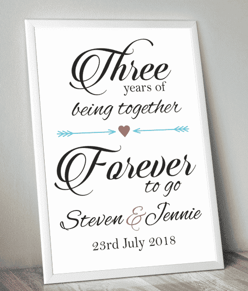 Anniversary Gifts Personalised Anniversary Print – Forever To Go